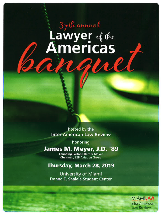 James Meyer honored Lawyer of the Americas
